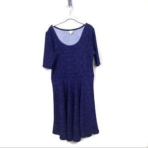 LuLaRoe purple Nicole midi dress plus size 3X